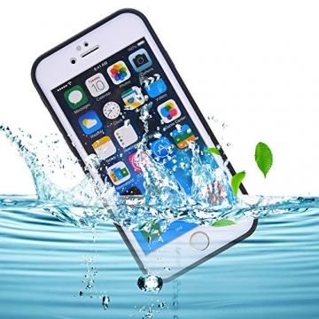 """Arbalest® Apple iPhone 6 Plus 6S Plus Wasserdichte Handyhülle Tasche,Ultra Leicht Dünn Völlig Geschlossene Waterproof Staubdicht Schneedicht Stoßfest Shockproof Case Hülle Schutzhülle für iphone 6/6S Plus (passt nicht für iphone 6 4.7"""" ), Schwarz - 1"""