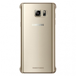 [Clear Gold] Samsung Galaxy Note5 Clear Cover Schale Hulle EF-QN920C fur Samsung Galaxy Note 5 (SM-N920) - Retail Verpackung - 1