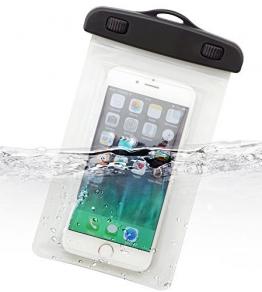 Dolder Square Shape wasserdichte Handyhülle Tasche Beutel Unterwasser tasche für Apple iPhone 6 und andere 4.3~5.1 zoll Smartphone wie Samsung Galaxy S5/S6/S6 Edge, HTC One M8/M9,Butterfly/Butterfly S/Desire 616/626, LG G3 S/G2 Mini/L Bello/L Fino/L70/L90, Sony Xperia Z3 Compact/Z4 Compact/M2/M4/E2/E4/L/SP, Huawei Honor 6/Ascend P6/P7/P7 Mini, Google Nexus 4/5, Blackberry Passport, Nokia Lumia 535/625/830/925/930, Motorola Moto E/E 2/G/G 2/X/X+1 in weiss - 1