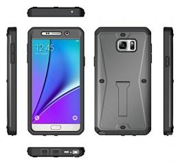Für Samsung Galaxy Note 5 Hülle Wasserfeste Stoßfeste und Staubdichte Schutzhülle Vollschutz (Grau) - 1