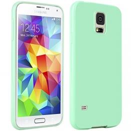 Galaxy S5 Hülle, Bestwe TPU Schutzhülle Hülle für Samsung Galaxy S5 TPU Case (Türkis-grün) - 1
