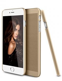 iPhone 6 Plus / 6S Plus Hülle, SOWTECH (TM) Slim Schütz Ultra Thin Defender Lightweight Ineinander Greifen-Harter PC Zurück Fall für Apple iPhone 6 / 6S plus 5,5 Zoll (Gold) - 1
