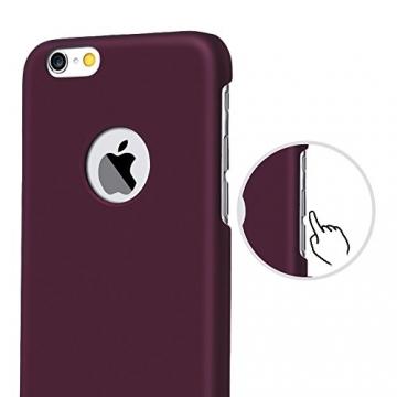 iPhone 6 Plus Case - Turata Ultra dünne Schutzhülle Sichtbaren Logo Premium Beschichtete Rutschfeste Oberfläche Lila Hülle für Apple iPhone 6 Plus 5.5 Zoll (2014) - 3