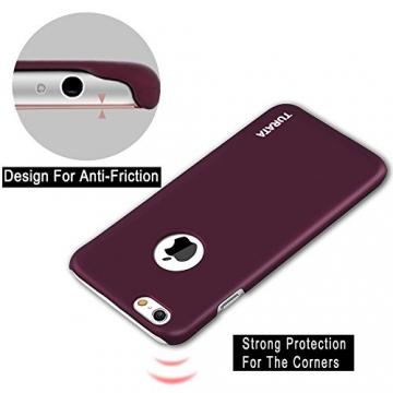 iPhone 6 Plus Case - Turata Ultra dünne Schutzhülle Sichtbaren Logo Premium Beschichtete Rutschfeste Oberfläche Lila Hülle für Apple iPhone 6 Plus 5.5 Zoll (2014) - 4