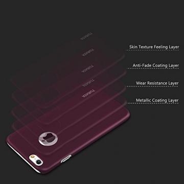 iPhone 6 Plus Case - Turata Ultra dünne Schutzhülle Sichtbaren Logo Premium Beschichtete Rutschfeste Oberfläche Lila Hülle für Apple iPhone 6 Plus 5.5 Zoll (2014) - 5