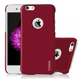 iPhone 6 Plus Case - Turata Ultra dünne Schutzhülle Sichtbaren Logo Premium Beschichtete Rutschfeste Oberfläche Rotwein Hülle für Apple iPhone 6 Plus 5.5 Zoll (2014) - 1