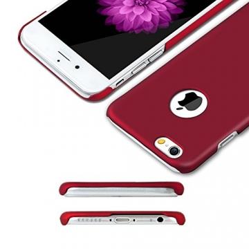 iPhone 6 Plus Case - Turata Ultra dünne Schutzhülle Sichtbaren Logo Premium Beschichtete Rutschfeste Oberfläche Rotwein Hülle für Apple iPhone 6 Plus 5.5 Zoll (2014) - 2