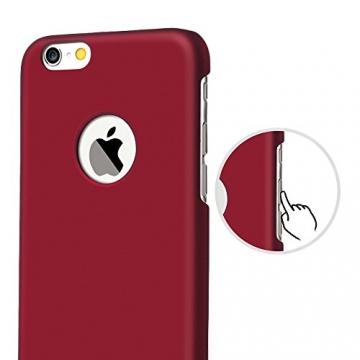 iPhone 6 Plus Case - Turata Ultra dünne Schutzhülle Sichtbaren Logo Premium Beschichtete Rutschfeste Oberfläche Rotwein Hülle für Apple iPhone 6 Plus 5.5 Zoll (2014) - 3
