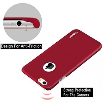iPhone 6 Plus Case - Turata Ultra dünne Schutzhülle Sichtbaren Logo Premium Beschichtete Rutschfeste Oberfläche Rotwein Hülle für Apple iPhone 6 Plus 5.5 Zoll (2014) - 4