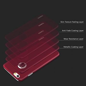 iPhone 6 Plus Case - Turata Ultra dünne Schutzhülle Sichtbaren Logo Premium Beschichtete Rutschfeste Oberfläche Rotwein Hülle für Apple iPhone 6 Plus 5.5 Zoll (2014) - 5