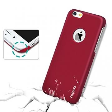 iPhone 6 Plus Case - Turata Ultra dünne Schutzhülle Sichtbaren Logo Premium Beschichtete Rutschfeste Oberfläche Rotwein Hülle für Apple iPhone 6 Plus 5.5 Zoll (2014) - 6