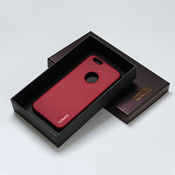 iPhone 6 Plus Case - Turata Ultra dünne Schutzhülle Sichtbaren Logo Premium Beschichtete Rutschfeste Oberfläche Rotwein Hülle für Apple iPhone 6 Plus 5.5 Zoll (2014) - 7
