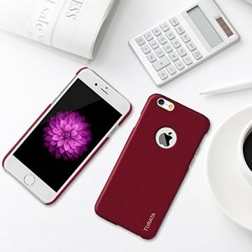 iPhone 6 Plus Case - Turata Ultra dünne Schutzhülle Sichtbaren Logo Premium Beschichtete Rutschfeste Oberfläche Rotwein Hülle für Apple iPhone 6 Plus 5.5 Zoll (2014) - 8