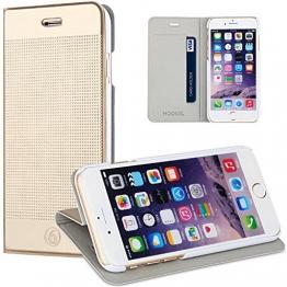 iPhone 6/6S Plus hülle,iPhone 6 Plus Leder Brieftasche Hülle,HOOMIL Ultra-dünne Leicht Dot Matrix Galaxy-serie Wallet Case Flip Cover Hüllen Schutzhülle Etui Ledertasche Lederhülle mit Standfunktion Kartenfächer für Apple iPhone 6 Plus 6S Plus 5.5 Zoll (Tyrant Gold) - 1