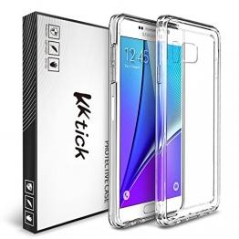 KKtick® Silikon tasche UltraSlim TPU Case in transparente für Samsung Galaxy Note 5 - 1
