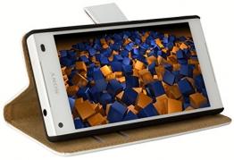 mumbi Tasche im Bookstyle für Sony Xperia Z5 Compact Tasche weiss - 1