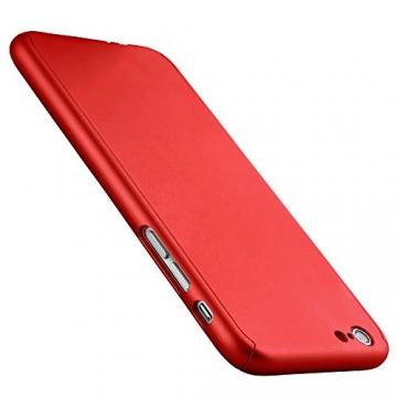 Oats® Apple iPhone 6 Plus / 6s Plus Hülle Rundum Schutzhülle mit Displayschutz Glasprotector Schutzfolie Tasche Hard Cover Back Case - von OKCS in Rot - 3