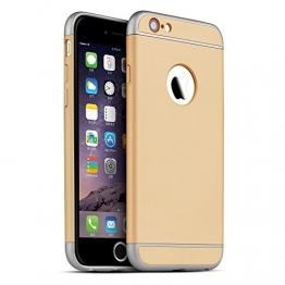 Oats® Apple iPhone 6 Plus / 6s Plus Hülle Rundum Schutzhülle Tasche Hard Cover Back Case - von OKCS in Gold - 1