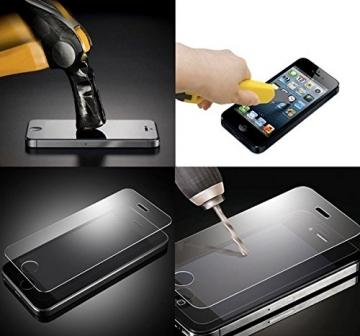 Premium Panzerglas 9H Pro - iPhone 6 6S Plus (5,5 Zoll) - Schutzfolie Hartglas Panzerglasfolie Handy Displayschutz Glasfolie Schutzglas Hartglasfolie Displayschutzfolie Smartphone - 3