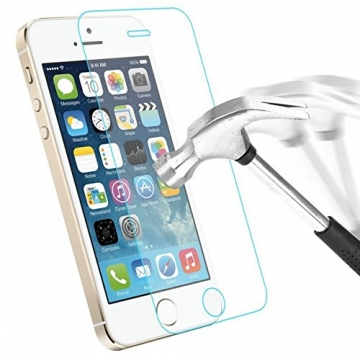 Premium Panzerglas 9H Pro - iPhone 6 6S Plus (5,5 Zoll) - Schutzfolie Hartglas Panzerglasfolie Handy Displayschutz Glasfolie Schutzglas Hartglasfolie Displayschutzfolie Smartphone - 5