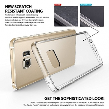 Ringke Fusion Galaxy Note 5 Hülle [Neu Staub Kappe][Crystal View] Ultra Slim Transparent Cover für Samsung Galaxy Note 5 Case - 4