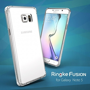 Ringke Fusion Galaxy Note 5 Hülle [Neu Staub Kappe][Crystal View] Ultra Slim Transparent Cover für Samsung Galaxy Note 5 Case - 7