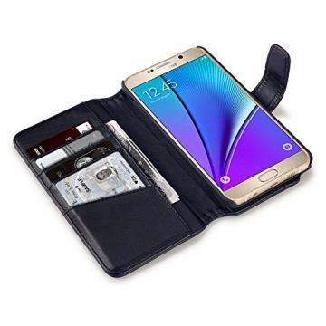 Samsung Galaxy Note 5 Case, Terrapin [ECHT LEDER] Brieftasche Case Hülle mit Kartenfächer und Bargeld für Samsung Galaxy Note 5 Hülle Schwarz - 2