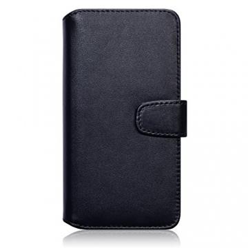 Samsung Galaxy Note 5 Case, Terrapin [ECHT LEDER] Brieftasche Case Hülle mit Kartenfächer und Bargeld für Samsung Galaxy Note 5 Hülle Schwarz - 3