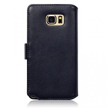 Samsung Galaxy Note 5 Case, Terrapin [ECHT LEDER] Brieftasche Case Hülle mit Kartenfächer und Bargeld für Samsung Galaxy Note 5 Hülle Schwarz - 4