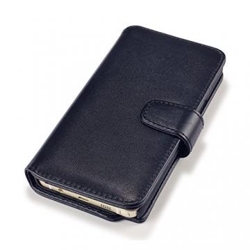 Samsung Galaxy Note 5 Case, Terrapin [ECHT LEDER] Brieftasche Case Hülle mit Kartenfächer und Bargeld für Samsung Galaxy Note 5 Hülle Schwarz - 5