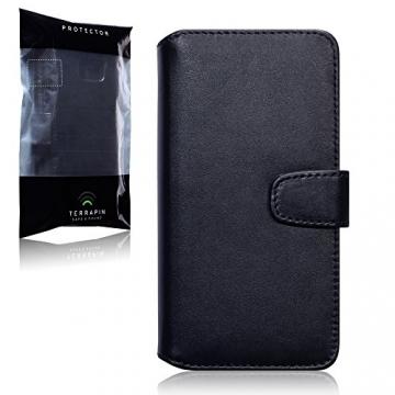 Samsung Galaxy Note 5 Case, Terrapin [ECHT LEDER] Brieftasche Case Hülle mit Kartenfächer und Bargeld für Samsung Galaxy Note 5 Hülle Schwarz - 6