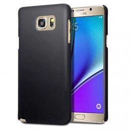 Samsung Galaxy Note 5 Case, Terrapin Gummiertes Hardskin Hülle für Samsung Galaxy Note 5 Hülle Schwarz - 1