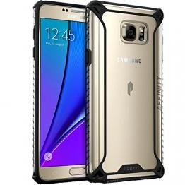 Samsung Galaxy Note 5 Schutzhülle Case Bumper - Poetic [Affinity-Serie] Samsung Galaxy Note 5 Case Schutzhülle - [Robuster Bumper aus TPU] [Eckenschutz] Hybride Schutzhülle Case Bumper für Samsung Galaxy Note 5 (2015) Klar/Schwarz (3 Jahre Herstellergewährleistung von Poetic) - 1