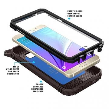 Samsung Galaxy Note 5 Schutzhülle - Poetic [Revolution-Serie] - [Schwerlast] [Zweilagig] Komplette, hybride Case Hülle mit eingebautem Displayschutz für Samsung Galaxy Note 5 (2015) Schwarz/Dunkelgrau (3 Jahre Herstellergewährleistung von Poetic) - 2