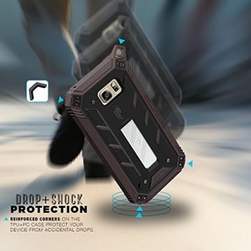 Samsung Galaxy Note 5 Schutzhülle - Poetic [Revolution-Serie] - [Schwerlast] [Zweilagig] Komplette, hybride Case Hülle mit eingebautem Displayschutz für Samsung Galaxy Note 5 (2015) Schwarz/Dunkelgrau (3 Jahre Herstellergewährleistung von Poetic) - 6