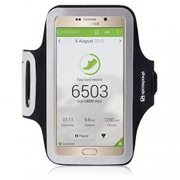 Shocksock Slim Fit Neopren Sport Armband Armtasche für Samsung Galaxy Note 5 Hülle Schwarz - 1