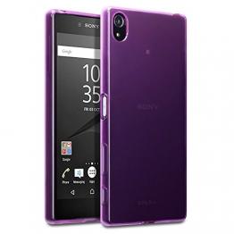 Sony Xperia Z5 Premium Case, Terrapin TPU Schutzhülle Tasche Case Cover für Sony Xperia Z5 Premium Hülle Transparent Lila - 1