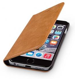 """wiiuka Echt Ledertasche TRAVEL Apple iPhone 6S Plus und iPhone 6 Plus (5.5"""") Hülle mit Kartenfach Cognac Braun extra Dünn Premium Design Leder Tasche Case - 1"""