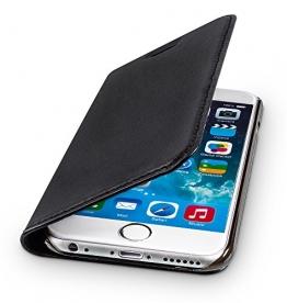 """wiiuka Echt Ledertasche TRAVEL Apple iPhone 6S Plus und iPhone 6 Plus (5.5"""") mit Kartenfach extra Dünn Tasche Schwarz Premium Design Leder Hülle - 1"""