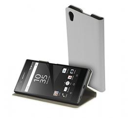 yayago Book style Tasche für Sony Xperia Z5 Hülle Slim mit Standfunktion Cremeweiß - 1