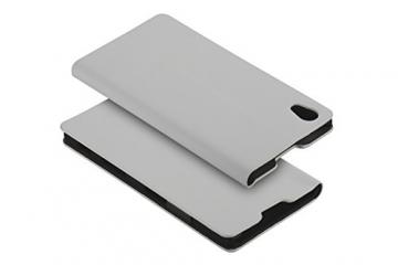 yayago Book style Tasche für Sony Xperia Z5 Hülle Slim mit Standfunktion Cremeweiß - 3