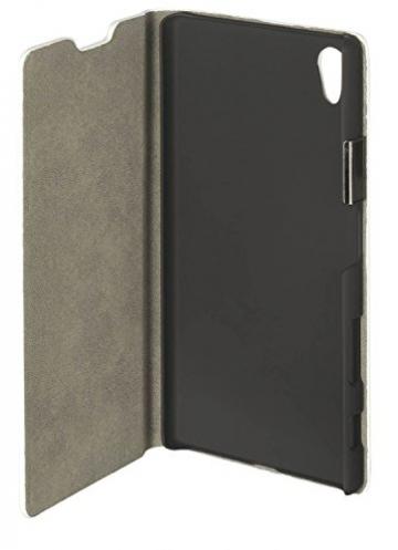 yayago Book style Tasche für Sony Xperia Z5 Hülle Slim mit Standfunktion Cremeweiß - 4