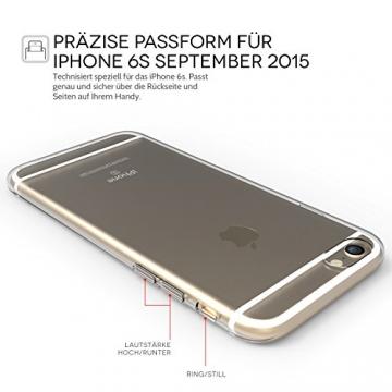 Yousave Accessories iPhone 6S / 6 Hülle Ultradünne 0.6mm Silikon Gel Schutzhülle - Transparent - 2