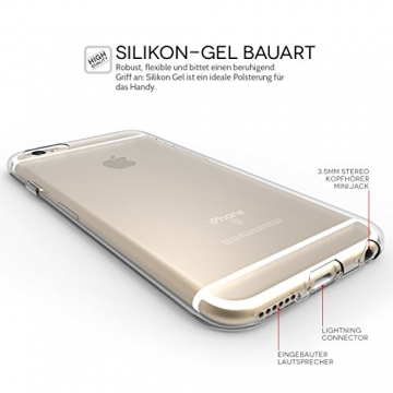 Yousave Accessories iPhone 6S / 6 Hülle Ultradünne 0.6mm Silikon Gel Schutzhülle - Transparent - 3