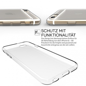 Yousave Accessories iPhone 6S / 6 Hülle Ultradünne 0.6mm Silikon Gel Schutzhülle - Transparent - 4