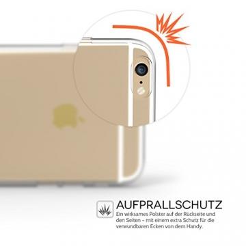 Yousave Accessories iPhone 6S / 6 Hülle Ultradünne 0.6mm Silikon Gel Schutzhülle - Transparent - 5