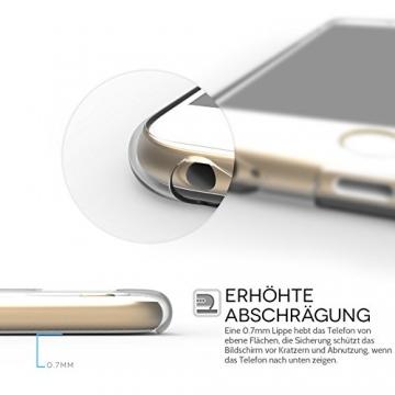 Yousave Accessories iPhone 6S / 6 Hülle Ultradünne 0.6mm Silikon Gel Schutzhülle - Transparent - 6