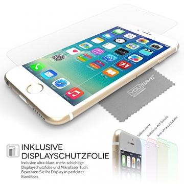Yousave Accessories iPhone 6S / 6 Hülle Ultradünne 0.6mm Silikon Gel Schutzhülle - Transparent - 7