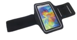 handy-point XXXXL Armhalter, Sportarmband Armband für Sport / Laufen / Joggen für Samsung Galaxy S4, S5, S5 Neo, S6, S6 Edge, S7, A5 2016, Alpha, Grand Neo, Sony Xperia Z1, Z2, Z3, Z5, HTC One M8, M9, A9, One E8, Desire Eye, 620, LG L Bello, G3s, L80, G2, Lumia 535, 930, 830... Halter für Handy, Running Case, Laufarmband, Halterung für Smartphone, Halter für Arm, Armtasche, Armband, Universell 14,8cm x 9cm mit Fach für Schlüssel / Kopfhörer + Reflexstreifen (Schwarz - Armtasche für S5/Z5) - 1