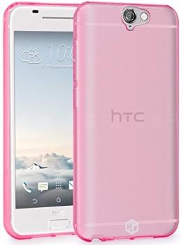 HTC One A9 Hülle, HT TPU Schutzhülle Tasche Case Ultradünn flexible weiche Silikon Modern Cover für HTC One A9 - TPU Rosa - 1